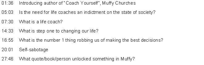 098: MUFFY CHURCHES - COACH YOURSELF   Luke and Susie